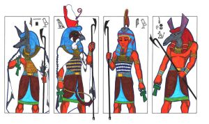 4 hot gods of Ancient Egypt II by PolaristheCepheid