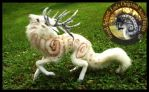SOLD Handmade Poseable Guardian Stag of the Wind by Wood-Splitter-Lee