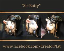 Sir Ratty Sculpted Brooch Pin by natamon