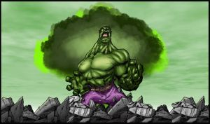 Hulk Rage By Stevensanchez Coloured. by Highlander0423