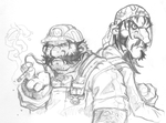 Different Wario and Waluigi by Hologramzx