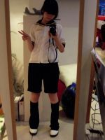 Kagamine Len Cosplay Main WIP by PinkStrawberryKitty