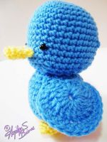 James the Little Blue Crochet Duck by Arjeloops