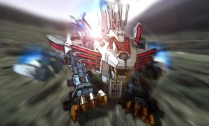 Zoids: Blade Liger Mirage charge! by BecciES