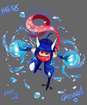 Greninja Gijinka: TWIN HYDRO CANNON NO JUSTU!!! by Billiam-X