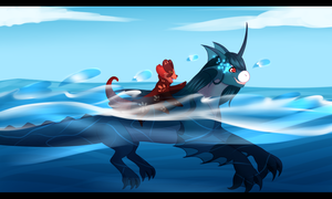 IMCW1 - Race to the Finish Poseidon by RandomComicSheet