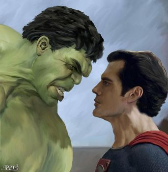 Hulk vs Superman by Mark Spears by markman777