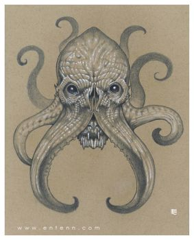 Cthulhu head by Entenn