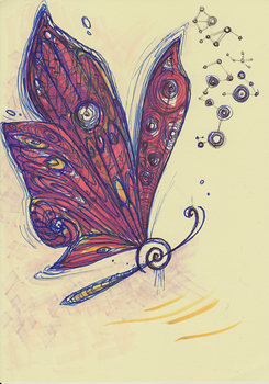 scetch of a butterfly clef hybrid by Rethandris
