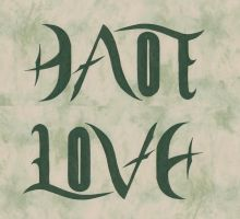 Ambigram Love - Hate by Abstract-scientist