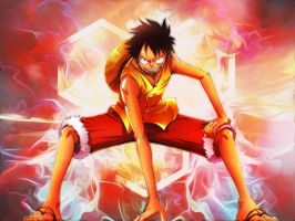Monkey D.Luffy Wallpaper by AgusholliD