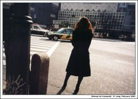 Woman at crosswalk by anotherview
