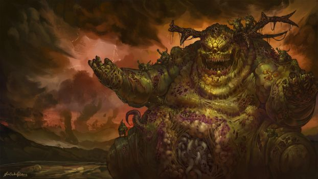 Warhammer Fantasy/40k - Great Unclean One by GetsugaDante