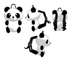 MMD-Panda backpack DL by Shioku-990