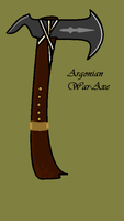 Tribal Argonian War axe concept by Falafler