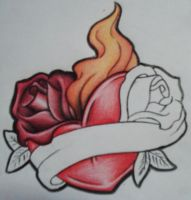 Heart Roses - Outline + Colour by paperpopulation