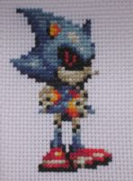 Cross Stitch Metal Sonic by Quina-chan
