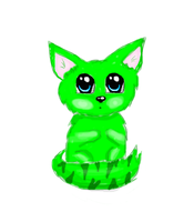 Green kitty by ParanoiaSlave