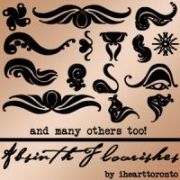 Absinth Flourishes Brushes by ihearttoronto