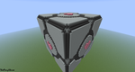 Companion cube 3D in minecraft by ThatPonyUknow