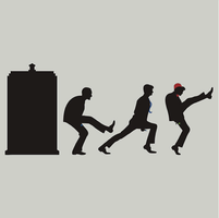 T-Shirt: The TARDIS of Silly Walks: 9, 10, 11 by trekvix