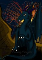 Dragon in a Volcanic Region by Amazing-Pineapples