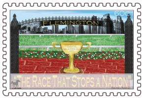 Spring Racing Stamp - Flemington Racecourse by ily4ever95