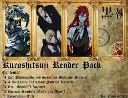 Kuroshitsuji/Black Butler Render Pack by Neutral0702