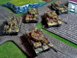 German Tiger Platoon by DorianM