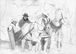 Winter sleigh ride SKETCH by Yankeestyle94