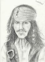 Captain Jack Sparrow by thedarkartistgirl
