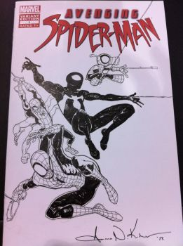 Spidey Sketch cover Wizard World Philly '12 by AaronKuder