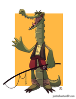 Crocodile Fisher by ItsJustin