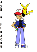 Ash Ketchum and Pikachu by Zombiehorse2