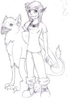 Random chick with Gryphon by scrumpet360