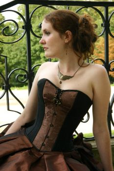 Corset - Steampunk - close up by Esaikha