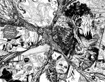 Swamp Thing 2 page 8 and 9 by YanickPaquette