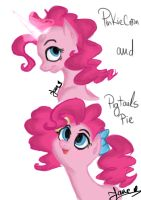 Pinkiecorn and Pigtails Pie by AngelPony99