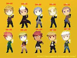 ImpyJ's Adoptable Batch (BOYS:SOLDOUT) by MayomiCCz