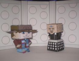 4th Doctor and Davros by CyberDrone