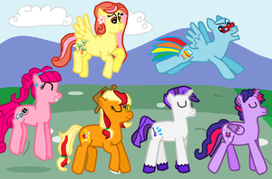 The Shake Ups in Ponyville Whinny Road by FreshlyBaked2014
