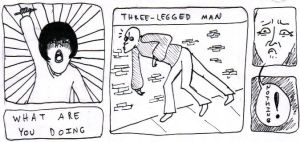 silly three-legged man by Chimaerical