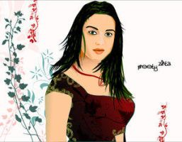 preety zinta by Club-Vector