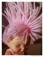 Pink Mohawk Doll 2 by punksafetypin