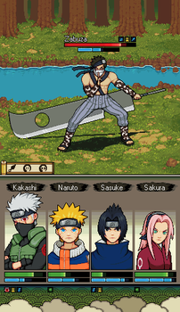 Naruto mobile game mockup by wonman321