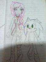 :Pc: Sonic and Lightning FF13 by maithehedehog