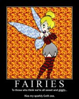 Goth Fairy Poster by chaoswolf1982