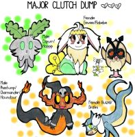 Buizel/Dratini and Flabebe Open! by chibimaker