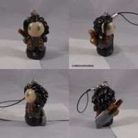 Zack Fair FF7 Charm by ChibiSilverWings