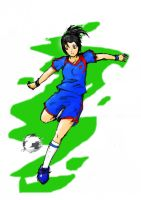 soccer girl colored by keroroblack